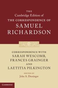 Cover Correspondence with Sarah Wescomb, Frances Grainger and Laetitia Pilkington