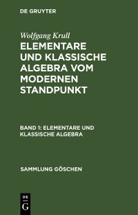 Cover Elementare und klassische Algebra