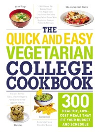 Cover Quick and Easy Vegetarian College Cookbook
