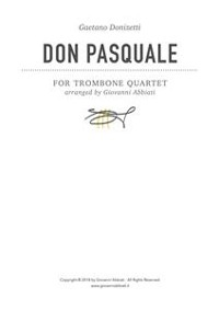 Cover Gaetano Donizetti Don Pasquale for Trombone Quartet