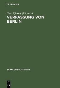 Cover Verfassung von Berlin