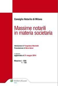 Cover Massime notarili in materia societaria