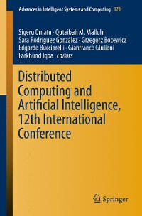 Cover Distributed Computing and Artificial Intelligence, 12th International Conference