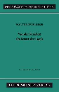 Cover Von der Reinheit der Kunst der Logik