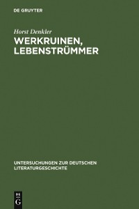 Cover Werkruinen, Lebenstrümmer