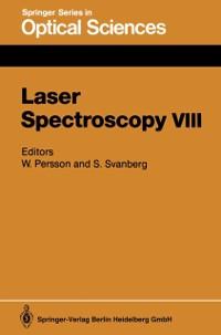 Cover Laser Spectroscopy VIII