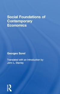 Cover Social Foundations of Contemporary Economics