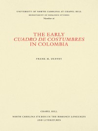 Cover The Early Cuadro de costumbres in Colombia