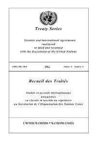 Cover Treaty Series 2825/Recueil des Traités 2825