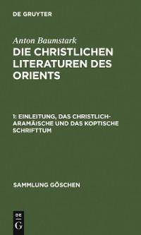 Cover Einleitung, das christlich-aramäische und das koptische Schrifttum