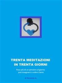 Cover trenta meditazioni per trenta giorni