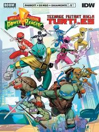 Cover Mighty Morphin Power Rangers/Teenage Mutant Ninja Turtles #1