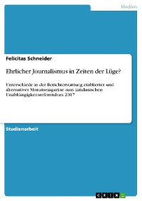 Cover Ehrlicher Journalismus in Zeiten der Lüge?