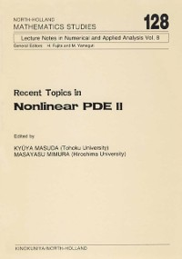 Cover Recent Topics in Nonlinear PDE II