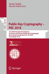 Cover Public-Key Cryptography - PKC 2018