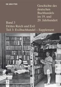 Cover Verleger, Buchhändler und Antiquare aus Deutschland und Österreich in der Emigration nach 1933