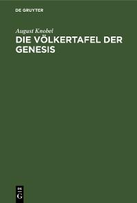 Cover Die Völkertafel der Genesis