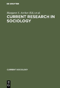 Cover Current research in sociology