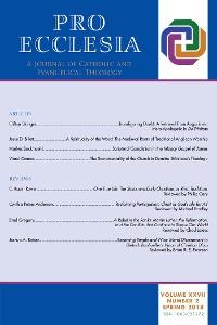 Cover Pro Ecclesia Vol 27-N2