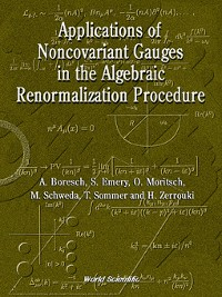 Cover Applications of Noncovariant Gauges In the Algebraic Renormalization Procedure