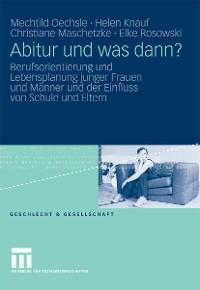 Cover Abitur und was dann?