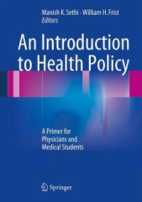 Cover An Introduction to Health Policy