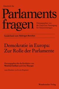 Cover Demokratie in Europa: Zur Rolle der Parlamente