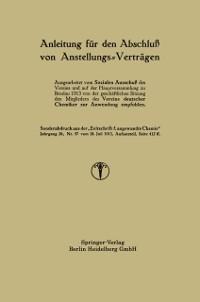 Cover Anleitung fur den Abschlu von Anstellungs-Vertragen