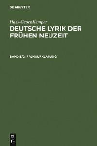 Cover Frühaufklärung