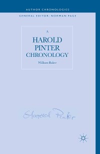 Cover A Harold Pinter Chronology