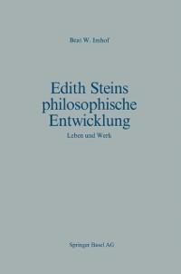 Cover Edith Steins philosophische Entwicklung