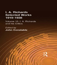 Cover I A Richards & His Critics V10
