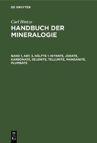 Cover Nitrate, Jodate, Karbonate, Selenite, Tellurite, Manganite, Plumbate