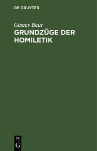 Cover Grundzüge der Homiletik