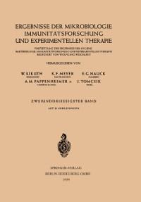 Cover Ergebnisse der Mikrobiologie Immunitatsforschung und Experimentellen Therapie