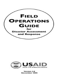 Cover Field Operations Guide for Disaster Assessment and Response