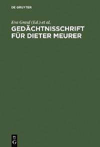 Cover Gedächtnisschrift für Dieter Meurer