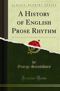 Cover A History of English Prose Rhythm