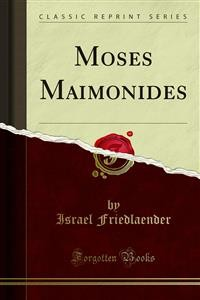 Cover Moses Maimonides