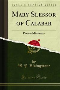 Cover Mary Slessor of Calabar
