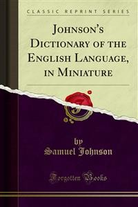 Cover Johnson's Dictionary of the English Language, in Miniature