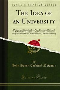 Cover The Idea of an University