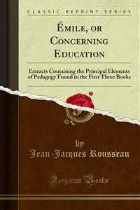 Cover Émile or Concerning Education