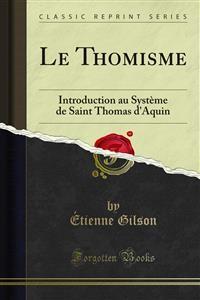 Cover Le Thomisme