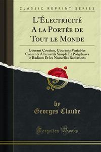Cover L'Électricité A la Portée de Tout le Monde