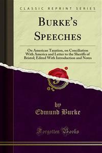 Cover Burke's Speeches