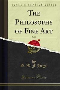 Cover The Philosophy of Fine Art