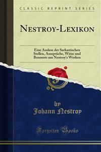 Cover Nestroy-Lexikon