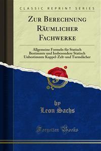 Cover Zur Berechnung Räumlicher Fachwerke
