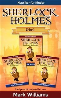 Cover Sherlock Für Kinder: 3-In-1-Box (Der Blaue Karfunkel, Silberstern, Die Liga Der Rothaarigen)
